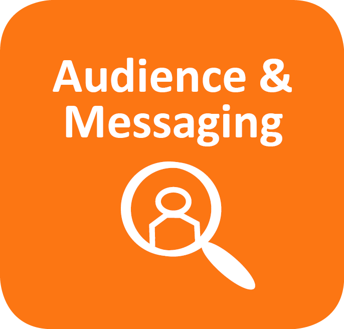 audience and messaging icon